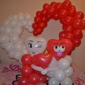 Шары на день влюбленных и любовь - морковь , цены в разделах  Шары гелиевые и Шары фольгированные , Фигуры из шаров.
