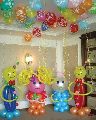 Украшение шарами своими руками для детей 755