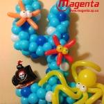 Композиция из шаров / № 4.6 /  Цена - 270 грн / Высота 100 см./Цифры от 1 до 100 / Цвета в ассортименте