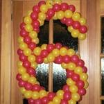 Композиция из шаров / № 6.1 / Цена - 150 грн / Высота 100 см / Цифры от 1 до 100 / Цвета в ассортименте /