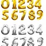 """№ 0.02 /  - 80 грн. шт , цифра """"золото , серебро"""" /  , наполненная воздухом  / высота 65 см. ВНИМАНИЕ , цифры не летают."""