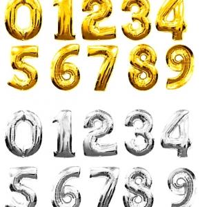 """№ 0.01 /- 40 грн. шт , цифра """"золото , серебро"""" /   , наполненная воздухом  / высота 35 см. ВНИМАНИЕ , цифры не летают."""