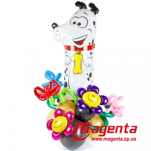 Композиция из шаров / № 1.2 / Цена - 290 грн / Высота 100 см / Цифры от 1 до 9 / Цвета в ассортименте /