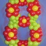 Композиция из шаров / № 8.0 / Цена - 150 грн / Высота 100 см / Цифры от 1 до 100 / Цвета в ассортименте /