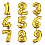 """№ 0.6 / цифра """"золото"""" / 200 грн. шт. - наполненная гелием , 150 грн. - наполненная воздухом  / высота 90 см."""