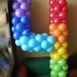 Композиция из шаров / № 4.0 / Цена - 150 грн / Высота 100 см / Цифры от 1 до 100 / Цвета в ассортименте /