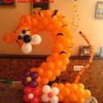 Композиция из шаров / № 2 /  Цена - 270 грн / Высота 100 см./ Цифры от 1 до 100 / Цвета в ассортименте .