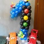 Композиция из шаров / № 1.12 / Цена - 270 грн / Высота 100 см / Цифры от 1 до 100 / Цвета в ассортименте /