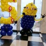 Композиция из шаров / № 5.7 /  Цена - 930 грн / Высота 120 см. /Цифры от 1 до 9 / Цвета в ассортименте