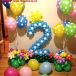 Композиция из шаров / № 2.16 / Цена - 635 грн / Высота 100 см / Цифры от 1 до 9 / Цвета в ассортименте /