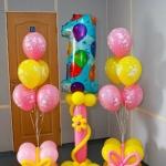 Композиция из шаров / № 1.10 / Цена - 560 грн / Высота 100 см / Цифры от 1 до 9 / Цвета в ассортименте /