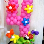 Композиция из шаров / № 4.1 /  Цена - 270 грн / Высота 120 см./Цифры от 1 до 100 / Цвета в ассортименте/