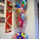 № 19.б / Цифра - 280 грн , шары фольгированные с рисунком - 60 грн шт , шары латексные - 20 грн шт , букет цветов - 180 грн / итого - 700 грн. Цвета в ассортименте.