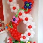 Композиция из шаров / №8.1 /  Цена - 270 грн / Высота 130 см. /Цифры от 1 до 100 / Цвета в ассортименте.