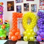 Композиция из шаров / № 1.30 /  Цена - 870 грн / Высота 140 см./Цифры от 1 до 100 / Цвета в ассортименте