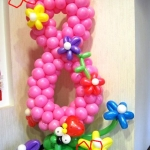 Композиция из шаров / № 8.3 /  Цена - 240 грн / Высота 100 см. /Цифры от 1 до 100/ Цвета в ассортименте