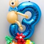 Композиция из шаров / № 3.4 / Цена - 290 грн / Высота 100 см / Цифры от 1 до 9 / Цвета в ассортименте /