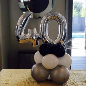 Композиция из шаров / № 40.1 /  Цена - 380 грн / Высота 100 см./Цифры от 1 до 100 / Цвета в ассортименте