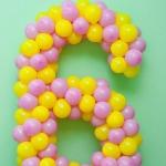 Композиция из шаров / № 6.0 /  Цена - 150 грн / Высота 100 см./Цифры от 1 до 100 / Цвета в ассортименте