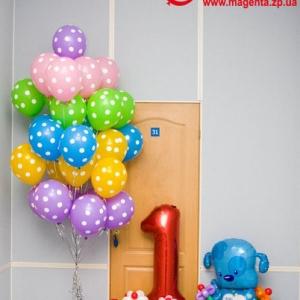 Композиция из шаров / № 1.27 / Цена - 1090 грн / Высота 100 см / Цифры от 1 до 9 / Цвета в ассортименте /