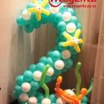 Композиция из шаров / № 2.3 /  Цена - 270 грн / Высота 100 см./Цифры от 1 до 100 / Цвета в ассортименте