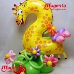 Композиция из шаров / № 2.8 /  Цена - 290 грн / Высота 100 см. /Цифры от 1 до 9 / Цвета в ассортименте
