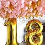 Композиция из шаров / № 18.1 /  Цена - 1490 грн / Высота 100 см./Цифры от 1 до 100 / Цвета в ассортименте