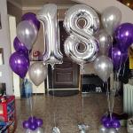 Композиция из шаров / № 18.2 /  Цена - 740 грн / Высота 100 см./Цифры от 1 до 100 / Цвета в ассортименте