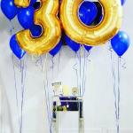 Композиция из шаров / № 30.4 /  Цена - 820 грн / Высота 100 см./Цифры от 1 до 100 / Цвета в ассортименте