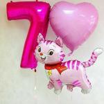 Композиция из шаров / № 7.2 /  Цена - 420 грн / Высота 100 см./Цифры от 1 до 100 / Цвета в ассортименте