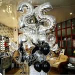 Композиция из шаров / № 25.6 /  Цена - 1170 грн / Высота 100 см./Цифры от 1 до 100 / Цвета в ассортименте