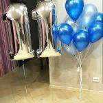 Композиция из шаров / № 11.1 /  Цена - 670 грн / Высота 100 см./Цифры от 1 до 100 / Цвета в ассортименте