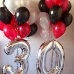 Композиция из шаров / № 30.2 /  Цена - 920 грн / Высота 100 см./Цифры от 1 до 100 / Цвета в ассортименте