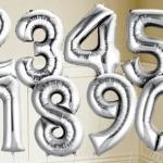 """№ 0.8 / цифра """"серебро"""" / 200 грн. шт. - наполненная гелием , 150 грн. - наполненная воздухом  / высота 90 см."""