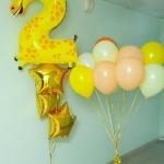 Композиция из шаров / № 2.10 / Цена - 740 грн / Высота 100 см / Цифры от 1 до 9 / Цвета в ассортименте /