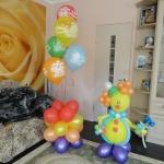 Композиция из шаров № 19. а /  Клоун  - 160 грн / стойка с шарами с днем рождения - 160 грн , элементы можно заказывать по отдельности / Цвета в ассортименте.