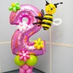 Композиция из шаров / № 2.5 /  Цена - 290 грн / Высота 140 см./ Цифры от 1 до 100 / Цвета в ассортименте