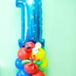 Композиция из шаров / № 1.3 / Цена - 260 грн / Высота 100 см / Цифры от 1 до 9 / Цвета в ассортименте /