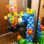 Композиция из шаров / №1.7  / Цена - 370 грн / Высота 100 см / Цифры от 1 до 9 / Цвета в ассортименте /