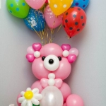 № 74.1 / Композиция из шаров / 180 грн - мишка / 20 грн - шар гелиевый брендированый , тематический / Цвета и рисунки на шарах в ассортименте.