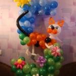 Композиция из шаров / № 5.8 /  Цена - 270 грн / Высота 100 см./Цифры от 1 до 100 / Цвета в ассортименте