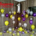 Композиция из шаров / № 1.9 / Цена - 890 грн / Высота 100 см / Цифры от 1 до 9 / Цвета в ассортименте /