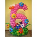 Композиция из шаров / № 6.3 / Цена - 270 грн / Высота 100 см/Цифры от 1 до 100 / Цвета в ассортименте /