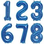 """№ 0.7 / цифра """"синие"""" / 200 грн. шт. - наполненная гелием , 150 грн. - наполненная воздухом  / высота 90 см."""