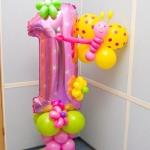 Композиция из шаров / № 1.16 / Цена - 290 грн / Высота 100 см / Цифры от 1 до 9 / Цвета в ассортименте /