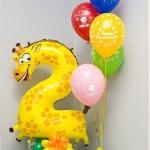 Композиция из шаров / № 2.9 /  Цена - 320 грн / Высота 140 см./ Цифры от 1 до 100 / Цвета в ассортименте