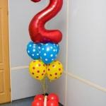 Композиция из шаров / № 2.7 /  Цена - 400 грн / Высота 140 см./ Цифры от 1 до 100 / Цвета в ассортименте