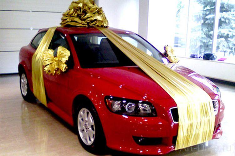 Большой бант для подарка для машины