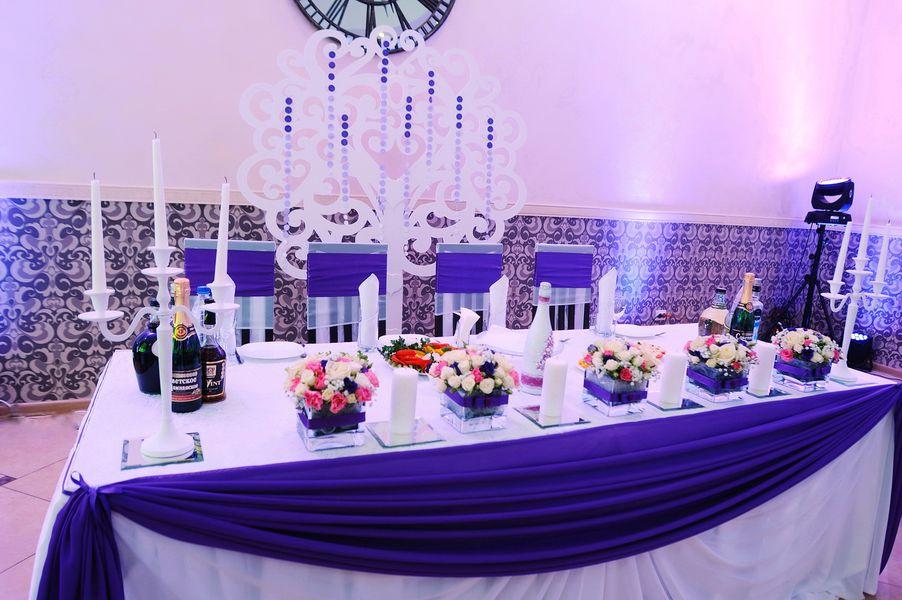 Оформление залов в синем цвете на свадьбу фото