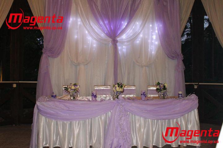 Как сделать арку за свадебным столом